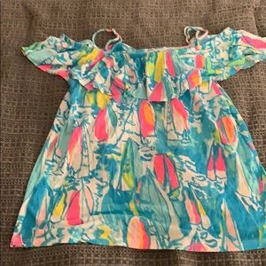 Lilly Pulitzer Tops - Lilly Pulitzer Off the Shoulder Shirt